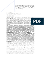 DS Nº 040-2001-De-SG (Asignacion de Beneficio No Pensionable)