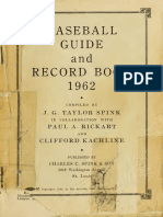 Baseball Guide Rec 1962 St Lo
