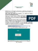 MANUAL de USUARIO Biblioteca Excel