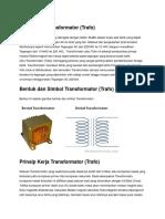 Pengertian Transformator