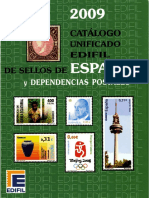 Catalogo Unificado Edifil de Selos Da Espanha Dependiencias Postales 2009