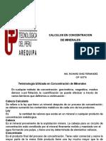 Calculos en Concentracion de Minerales Clase 6 (1)