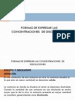 Unidad 1.6. Concentración de Disoluciones(1)