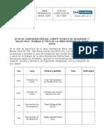 Acta de Comite de Seguridad de Obra (IB)