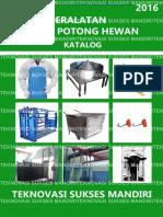 Katalog Peralatan Rumah Potong Hewan - 2016