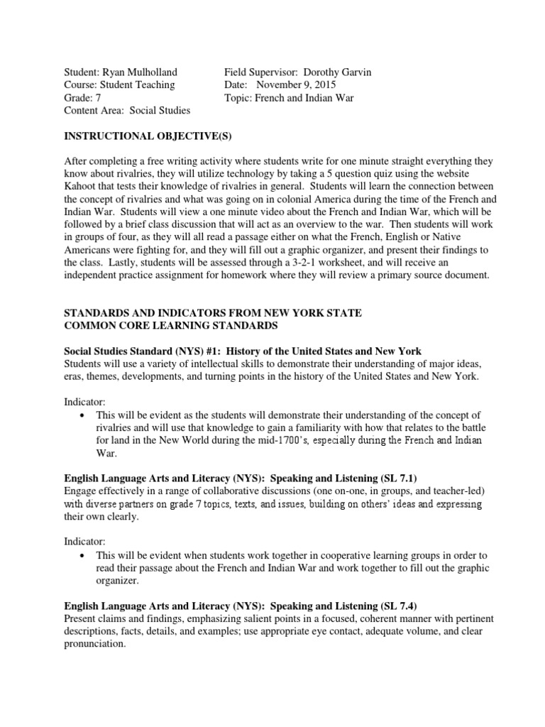 Uncategorized French And Indian War Worksheet rm lesson plan french and indian war with worksheets new france ohio river