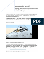 ISIS May Have Saved the a 10