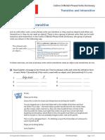PV Transitive and Intransitive