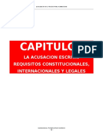 La Acusacion en El Proceso Penal Nicaraguense