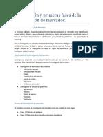 Introduccio n y primeras fases de la investigacio n de mercados.