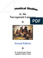 Grammatical Studies in Narragansett Language 2ed