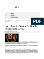 Fortune of Africa 100 Ideas