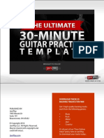 JamPlay 30 Minute Guitar Pratice Template