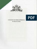 Catálogo Das Obras Impressas No Século XVIII_vol.I