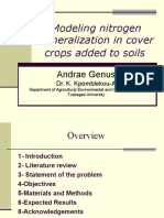 Modeling Nitrogen Mineralization in Cover Crops Added To