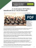 08-10-15 Entrega Maloro Acosta Apoyos Del Fonden a Damnificados de La Costa de Hermosillo _ Canal Sonora