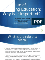 value of coaching education pp