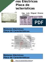 Placa de Caracteristicas de Motores Eléctricos