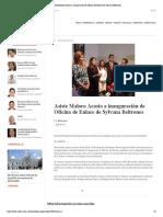 18-01-16 Asiste Maloro Acosta a inauguración de Oficina de Enlace de Sylvana Beltrones