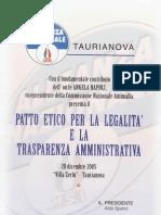 PATTO ETICO PER LA LEGALITA'