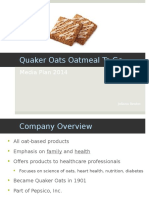 quaker oats media plan