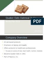 quaker oats media plan