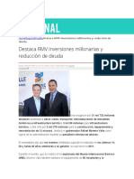 15-01-2016 Regional Puebla - Destaca RMV Inversiones Millonarias y Reducción de Deuda