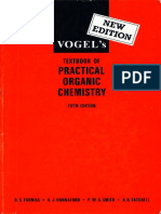 Vogels Textbook of Practical Organic Chemistry