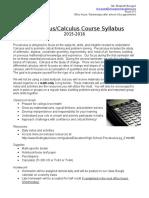 precalc-calc syllabus 2015-2016