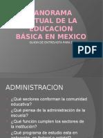 Guion de Entrevista, panorama de la educacion en México