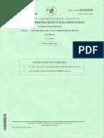 CAPE 2009 Computer Science Unit 1 Paper 2