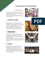10 Paises de Producción Internacionales