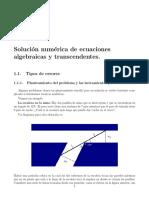 Solución numérica ecuaciones no lineales