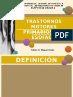 Trastornos Motores Del Esofago