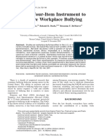 A New, Four-Item Instrument to Measure Workplace Bullying