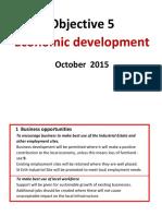 Objective 5 Economic Development 8.10.2015 [112157]