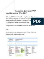 ¿Cómo Configurar Un Servidor PPTP en El Router de TP-LINK