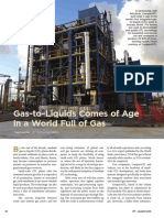 Gas to Liquids Comes of Age in a World Full of Gas JPT Tech Aug2013