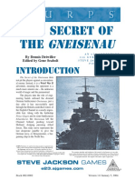 Gurps 3e - WwII - Weird War II -The Secret of the Gneisenau