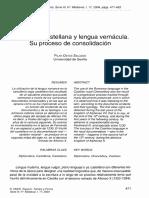 Ostos Salcedo (P.)_Cancillería Castellana y Lengua Vernácula. Su Proceso de Consolidación (Espacio, Tiempo y Forma, s. 3, Hist. Mediev., 17, 2004, 471-483)