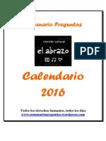 Calendario Preguntas 2016