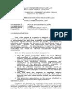 2015 Course Syllabus Precis Public International Law