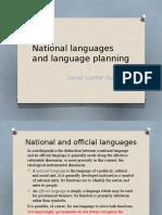 National Languages and Language Planning