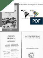 La Posmodernidad (Explicada a Los Niños) - Jean-Francois Lyotard RESLAC