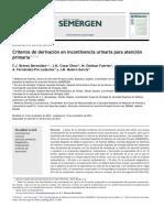 Criterios de Derivaciín en Incontinencia Urinaria
