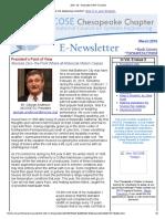 Chesapeake INCOSE Mar 2015 Newsletter