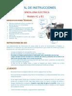 Manual de Instrucciones a1 (1) Del Equipo