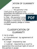 Classification of Guaranty