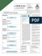 Boletín Oficial de la República Argentina, Número 33.302. 22 de enero de 2016