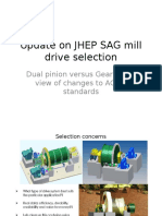 Update on JHEP SAG Mill Drive Selection
